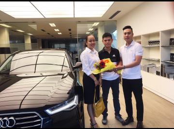 Lễ bàn giao xe Audi cho anh Đức - Chủ kinh doanh
